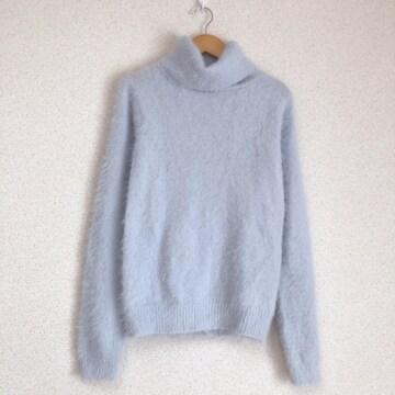 きれい色 ふわふわシャギーニット タートルニット セーター♪