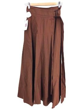 ATON(エイトン)BELTED WRAP SKIRT ベルテッドラップスカート巻きスカート
