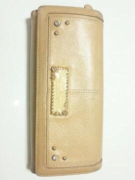 10705/サマンサタバサ可愛いベージュブラウン系の素敵な長財布格安出品