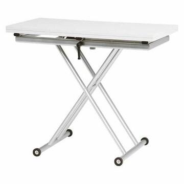 エクステンション昇降テーブル(ホワイト) KT-3195WH