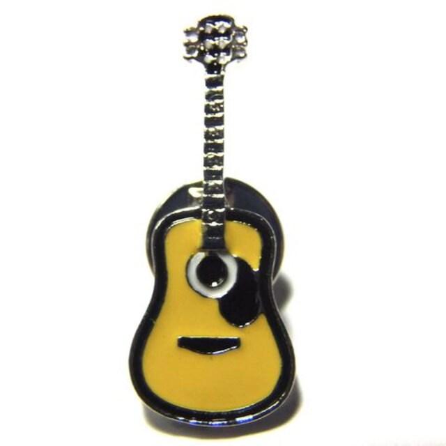 送料無料 アコースティックギター ラペルピン ピンバッジ ブローチ アコギ < ホビーの