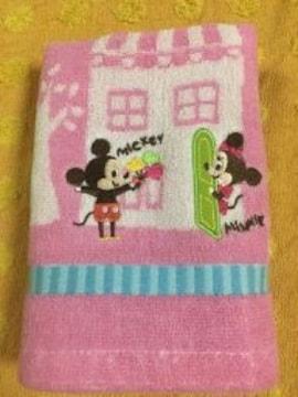 Disneyディズニーハンドタオルミッキーミニーピンク