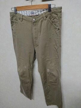 エターナル/ETERNAL リペア加工 リメイクチノパン 裾きりっぱなし 34