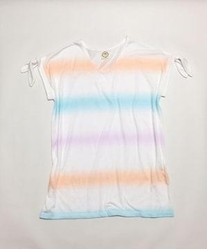 アクアガールagパステルレインボー白半袖Tシャツ(M)新品