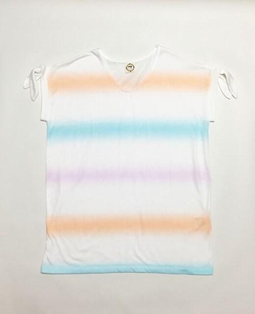 アクアガールagパステルレインボー白半袖Tシャツ(M)新品 < ブランドの