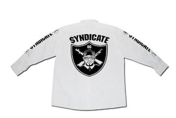 SYNDICATE★OG長袖ワークシャツ★S★白★新品