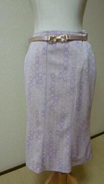 上品ベルト付きスカート