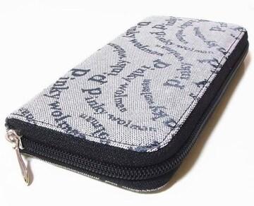 ピンキーウォルマン(Pinky wolman)Style-F ラウンドファスナー長財布 84041 黒