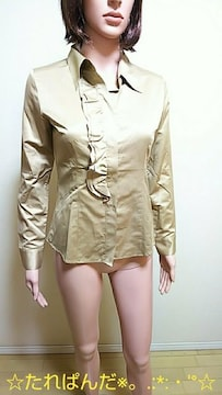 新品タグ付☆INTER PLANET☆胸元フリ�AブラウスT84☆3点で即落