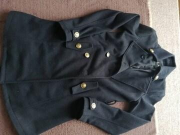 M 黒 コート 美品