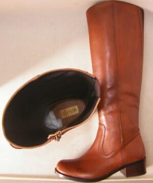 あしながおじさん新品ロング ブーツ本革500341MBR 23cm
