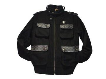 最終セール新品BrooklynBasementブルックリンベースメント★ジップジャケットMブラック