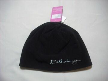 wb53 女 BILLABONG ビラボン フリース帽 ブラック