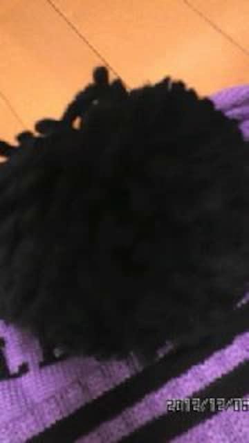 ★超カワ★ロゴデカポンポンニット帽★PL ★ < 女性ファッションの