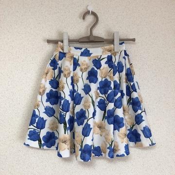 セシルマクビー きれい色チューリップ柄フレスカート 花柄 CECIL McBEE♪