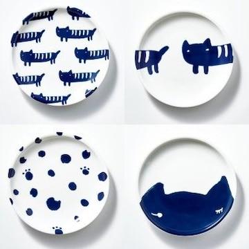 ★送料無料★ツモリチサト♪ネコ柄の豆皿4枚セット◆新品