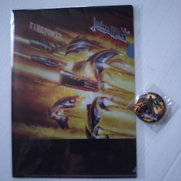 Judas Priest《日本盤外付け特典クリアファイル&缶バッジ》