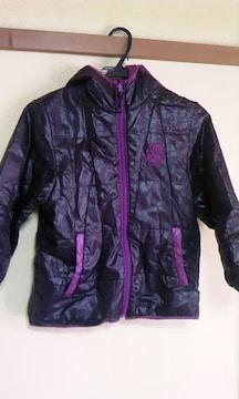 黒&紫中綿ジャンパー140cm