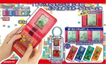新品*2インチ液晶ポータブルゲーム ブリック*オレンジ*テトリス