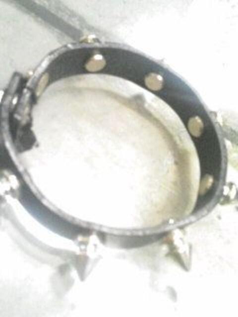1連ロンドン鋲ブレス◆新品◆レザーリストバンド◆BK◆ < 女性アクセサリー/時計の