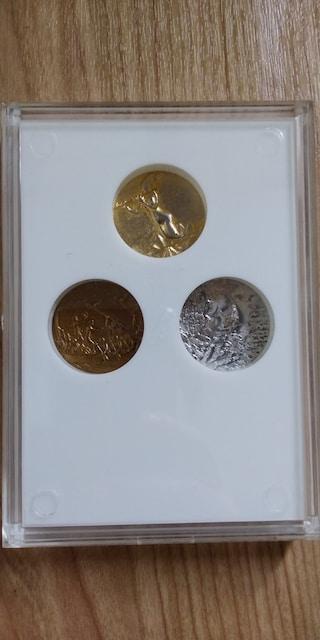 沖縄海洋博EXPO 1975年金、銀、銅セット