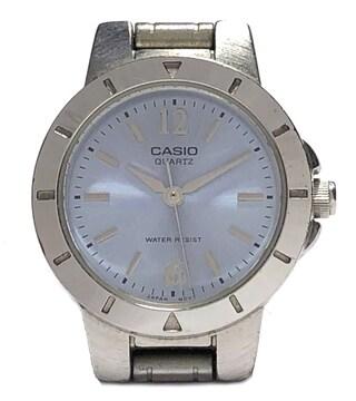 カシオ腕時計レディースウォッチ時計LTP-1177ブルー文字盤シ