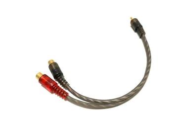 オーディオ分配ケーブル RCA用2又ケーブル