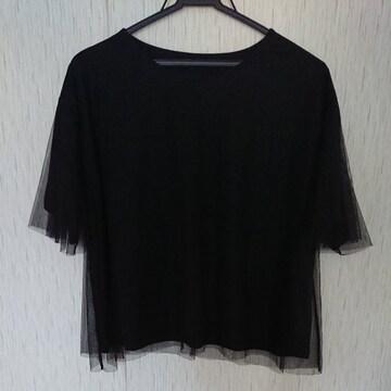 ROPEPICNIC☆チュールTシャツ☆M☆黒