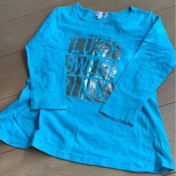 ターコイズブルー/コールドロゴ/長袖/ロンT/Tシャツ/120�p