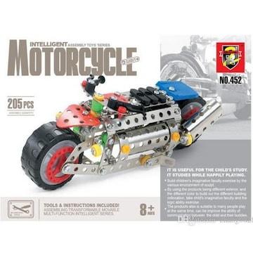 【送料無料】オートバイ 手作りブロック 工具付き 模型 205部品