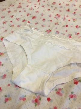 綿ショーツ☆。.:*コットンパンティ♪純白りぼんパンティ難あり