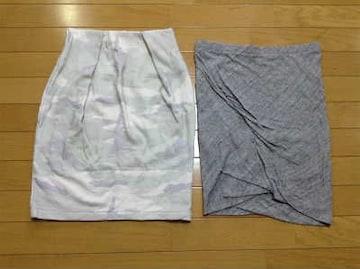ペギーラナ迷彩コクーンスカートアンダーバーローミニタイトスカート2枚セット