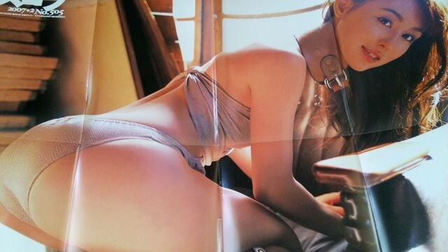 秋山莉奈/長崎莉奈★ポスター■スコラ付録  < タレントグッズの