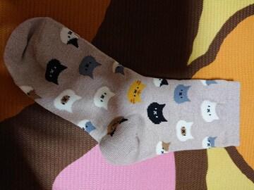 新品、靴下、くつ下、22�p〜25�p、猫、ネコ、ねこ