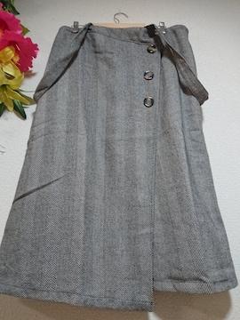 ★新品タグ6L★2WAY★ヘリンボーンツィードスカート¥6369
