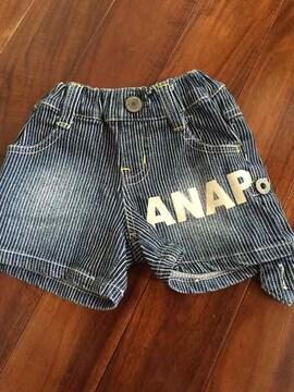 ANAP ヒッコリーデニムショートパンツ