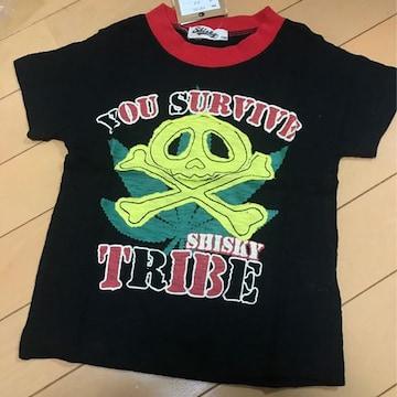 新品◆ドクロアップリケ◆半袖Tシャツ◆100マリファナ