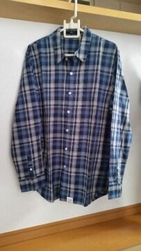 ¥6,469 AZUL アズールバイマウジー チェック シャツ ブルー L