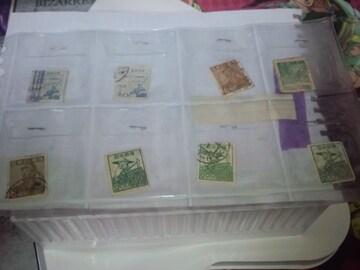 古い使用済み切手 ペーパーオフ8枚  �H