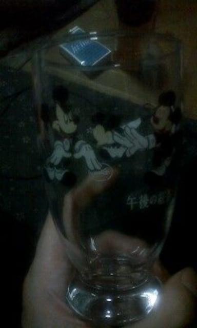午後の紅茶ノベルティミッキーマウスオリジナルグラス未使用 < アニメ/コミック/キャラクターの
