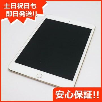 ●美品●SOFTBANK iPad mini 4 Cellular 64GB ゴールド●