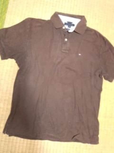 トミー ポロシャツ ブラウン  < 男性ファッションの