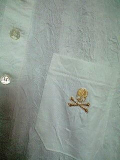 新品Roenロエン スカル刺繍皺加工ポロシャツ 48 < ブランドの