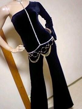 激エロ(^-^)ワンショルx背ハシゴ開オールインワンジャンプスーツ