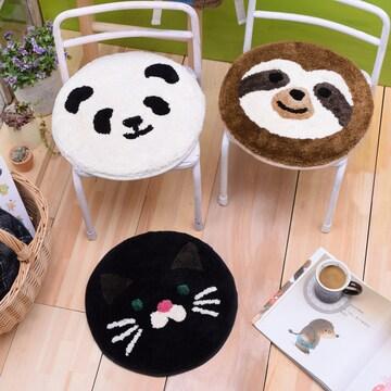 アニマル チェアパッド 動物 クッション 円形 椅子カバー