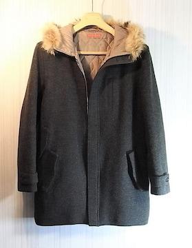 size2 ラウンジリザード リアルファー使い フーデッドコート
