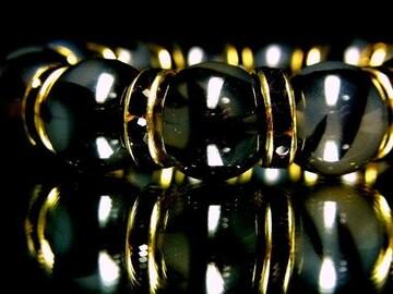 元祖オラオラ系!!!黒龍紋石ドラゴンアゲート14ミリ数珠ブレスレット
