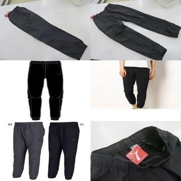 M 黒) プーマ ウーブンパンツ 851245 ロングパンツ 裾絞りゴム素材