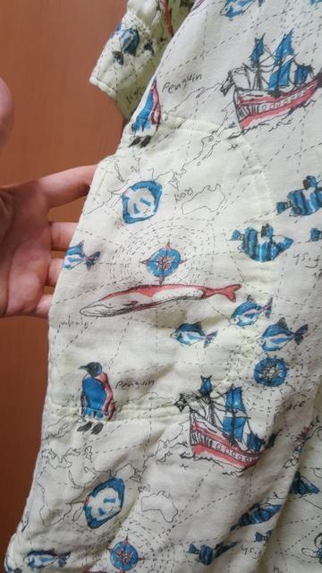 チチカカ♪レア♪七分袖♪地図柄ワンピ♪ガーゼ地♪ < ブランドの