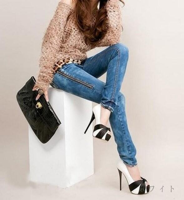 特価★レッドリボンパンプス★黒/ブラック/22-24.5cm/ヒール13 < 女性ファッションの